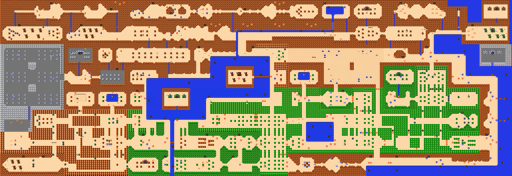 nes zelda overworld full